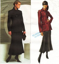 Misses Vogue Career Office Work Anne Klein Jacket Godet Skirt Sew Patter... - $14.99