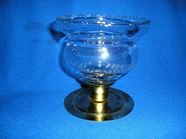 1  Homco  Etched Wheat Short Peg Votive Cup Candle Holder. - $8.99