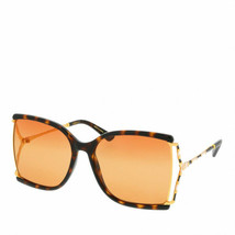 NEW Gucci Sunglasses GG0592S 003 Havana Gold/Orange Lens Design 60mm - $281.30