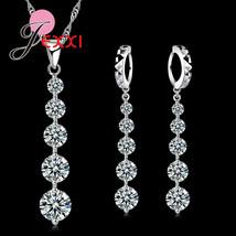 New Fashion 925 Sterling Silver Luxury CZ Crystal  Long Tassel Drop Neck... - $12.73