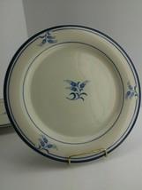 2 Sango Permastone Prestige Blue Plates 317 Stoneware Flowers Japan Plat... - $10.00