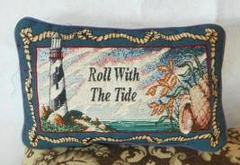 Blue Lighthouse Print Decorative Pillow  12 x 8 - $29.95