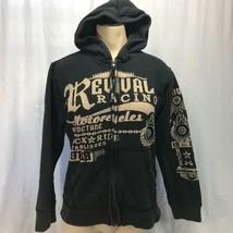 Revival Racing Motorcycles Hoodie Sweatshirt Youth Size L 10-12 - $14.84