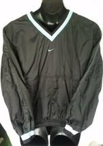 NIKE  Windbreaker Lg 12-14 Pullover Pockets Vented 90s N Carolina Colorw... - $21.58
