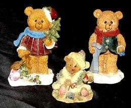 Bear Figurine (Three) AA20-2333 Vintage