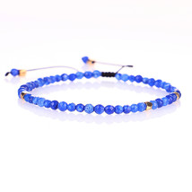Handmade 3mm Natural Lapis lazuli Stone Red Tiger Eye  Beads Bracelets F... - $17.24