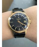 Vintage 18k Gold Men's Watch 18k Zodiac Automatic Wrist Watch - $1,654.13