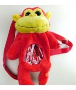 CHUPA CHUPS Lollipops Suckers Plush Red MONKEY Bag Mini Backpack  - $18.80