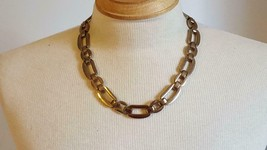 """VINTAGE SIGNED ALFANI CHUNKY 18"""" MEN LINKED CHAIN NECKLACE, RUSTIC, 5/8""""... - $6.39"""