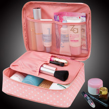 Neceser Zipper Man Women Make Up Bag Cosmetic Bag Beauty Case Organizer ... - $260,42 MXN