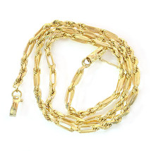 3.65mm 14K Yellow Gold Figaro Chain - $1,024.65