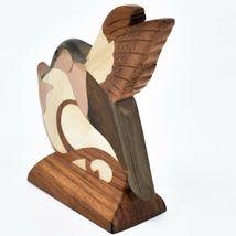 Northwoods Handmade Wooden Parquetry Hummingbird Bird Sculpture Figurine image 4