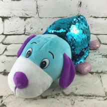 Flip-a-Zoo Pebbles Puppy/Carys Kitty Reversible Plush Stuffed Toy w/SEQUINS - $14.84