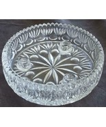 Beautiful Crystal Saw-Tooth Rim Candle Holder Dish - VGC - GORGEOUS CRYSTAL DISH - $39.59