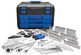 Kobalt 227-Piece Standard (SAE) and Metric Mechanics Tool Set w/ Hard Case - $195.87