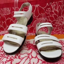 Propet White Leather Strappy Sandals Low Heel Shoes W0213 Womens 7.5X (2... - $34.99