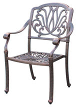 """Outdoor propane fire pit 5 piece set 52"""" round table 4 Elisabeth dining chairs image 5"""