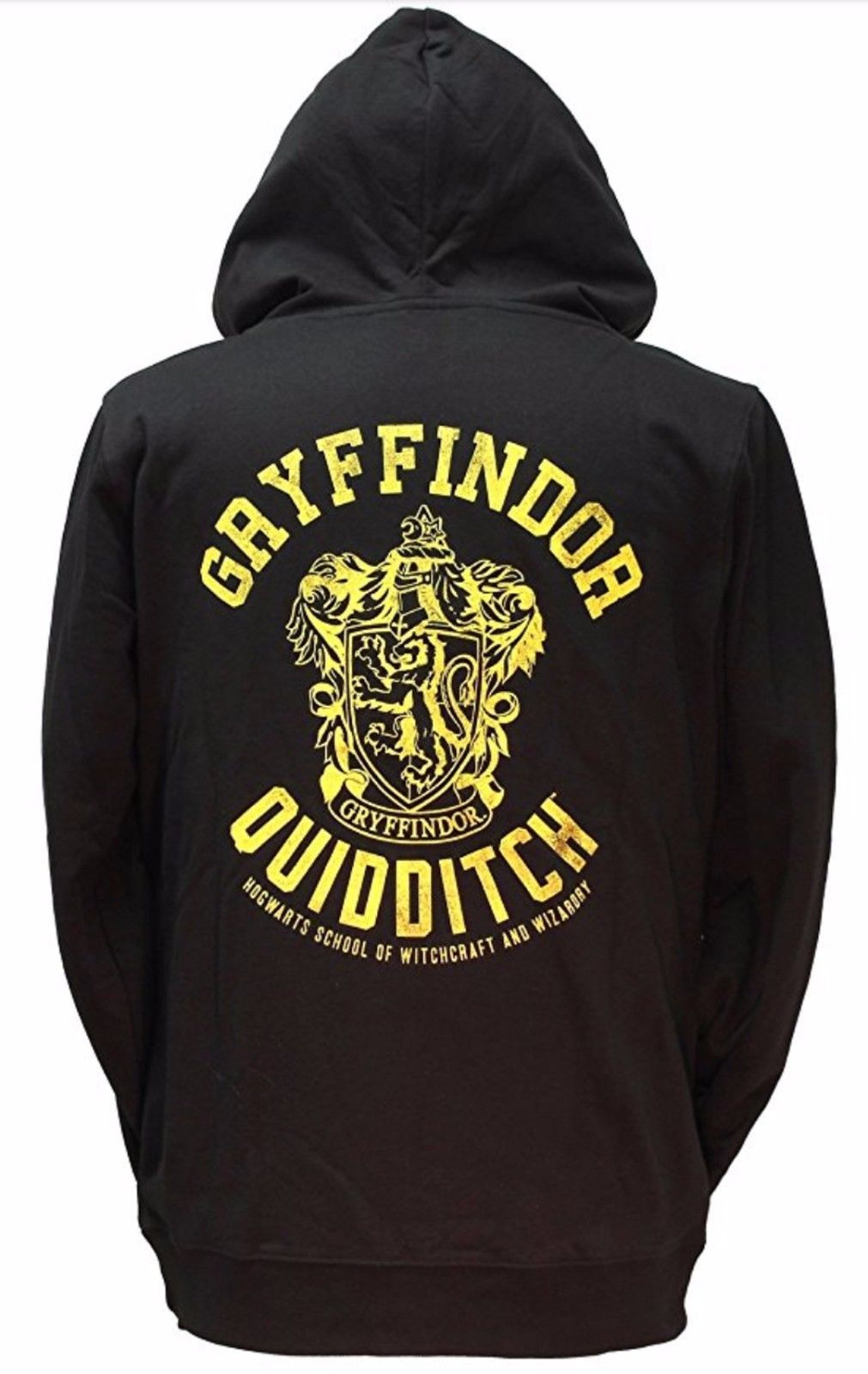 Primary image for Harry Potter Gryffindor Quidditch Zip Up Hoodie - Size M - Black