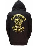 Harry Potter Gryffindor Quidditch Zip Up Hoodie - Size M - Black - $39.55
