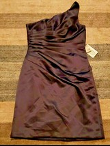 NWT Mori Lee By Madeline Gardner Charcoal One Shoulder Dress Women Size 14 - $37.05