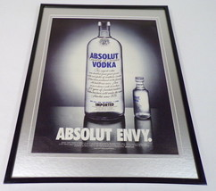 2003 Absolut Envy Vodka Framed ORIGINAL 11x14 Advertising Display - $34.64