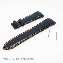 Black/orange leather strap Watchband for Tissot T035617A T035439A 23mm w... - $24.47
