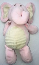 "Kellytoy 20"" Pink Elephant Stuffed Animal W/ Inside Rattle Very Soft Brown Eyes - $28.36"