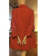 Vintage Four Seasons Of London Raincoat Sz M Melon Color Cape Trench Jacket - $29.70