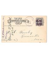 UX5 Wheaton IL to Garnavillo IA Fancy Cork Cancel 1880 E. B. Wakeman Far... - $9.33 CAD