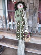 "*New* Cloth Doll (Paper) Pattern ""Tall-n-Skinny Snow Lady"" by Deena Olde... - $9.00"