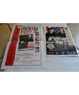 BROOKS & DUNN 2 VINTAGE FLYERS NEON CIRCUS & WILD WEST TOUR COUNTRY FEST... - $29.50