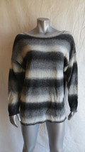 Womens Divided Black & Gray Striped Sweater Size 12 - $6.79