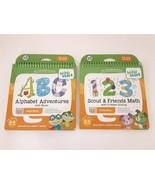 LeapFrog LeapStart Preschool Activity Book Alphabet Adventures & 123 Scout - $20.57