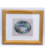 """Stream of Flowers Barbara Hails Matted Framed Water Print Art 12"""" BONUS ... - $19.99"""