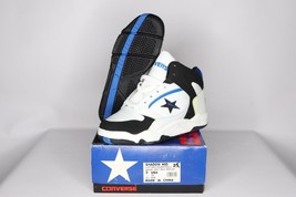 Vintage 90s New Converse Youth 2 Shadow Mid Leather Basketball Shoes White - $45.49