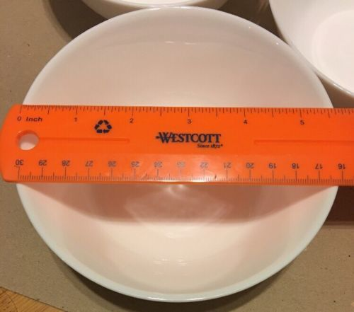 """IKEA White Tempered Glass Set of 11 Soup Cereal Bowls 5-5/8"""""""