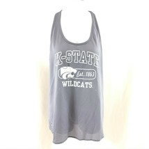 NCAA Kansas State Wildcats Womens Tank Top Racerback Mesh Keyhole Gray S... - $14.50