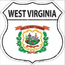 "West Virginia State Flag Distressed 11"" x 11"" Novelty Highway Shield Met... - $9.95"