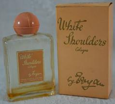Vintage White Shoulders Cologne by Evyan Old Pink Top Bottle and Origina... - $15.99