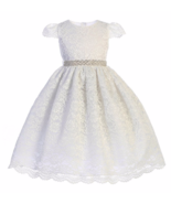 Exquisite White Lace Flower Girl Party Pageant Dress, Crayon Kids USA - $56.99