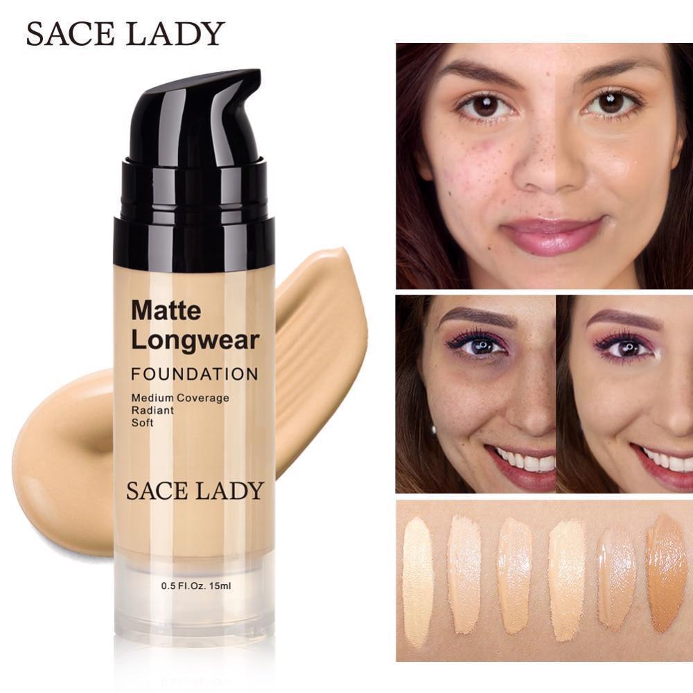Foundation Base Makeup Professional Face Matte Finish Liquid Make Up Concealer image 11