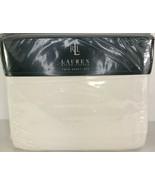 NEW Ralph Lauren Twin Cotton Sheet Set Linen Cream Color SEALED - $39.59