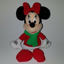 Minnie Mouse Bean Bag Plush Disney Just Play Stuffed Toy Red Dress Green... - $14.80