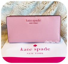 KATE SPADE CAMERON MONOTONE LARGE SLIM BIFOLD WALLET BRIGHT CARNATION - $64.23
