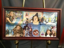 Wizard Of Oz Bradford Exchange Vintage 6 Plate Framed Mural On The Road To Oz - $197.99