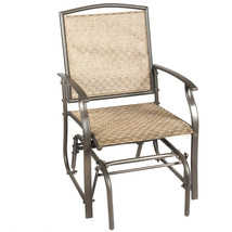 Steel Frame Garden Swing Single Glider Chair Rocking Seating - $88.69