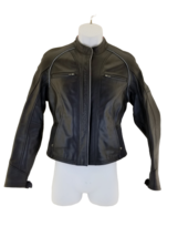 HARLEY DAVIDSON Women's Size XS Black Leather Jacket in Very Good Condition - $123.69