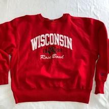 Wisconsin Badgers Vintage 1999 Rose Bowl Reverse Weave Sweatshirt XL Mint Red - $36.58