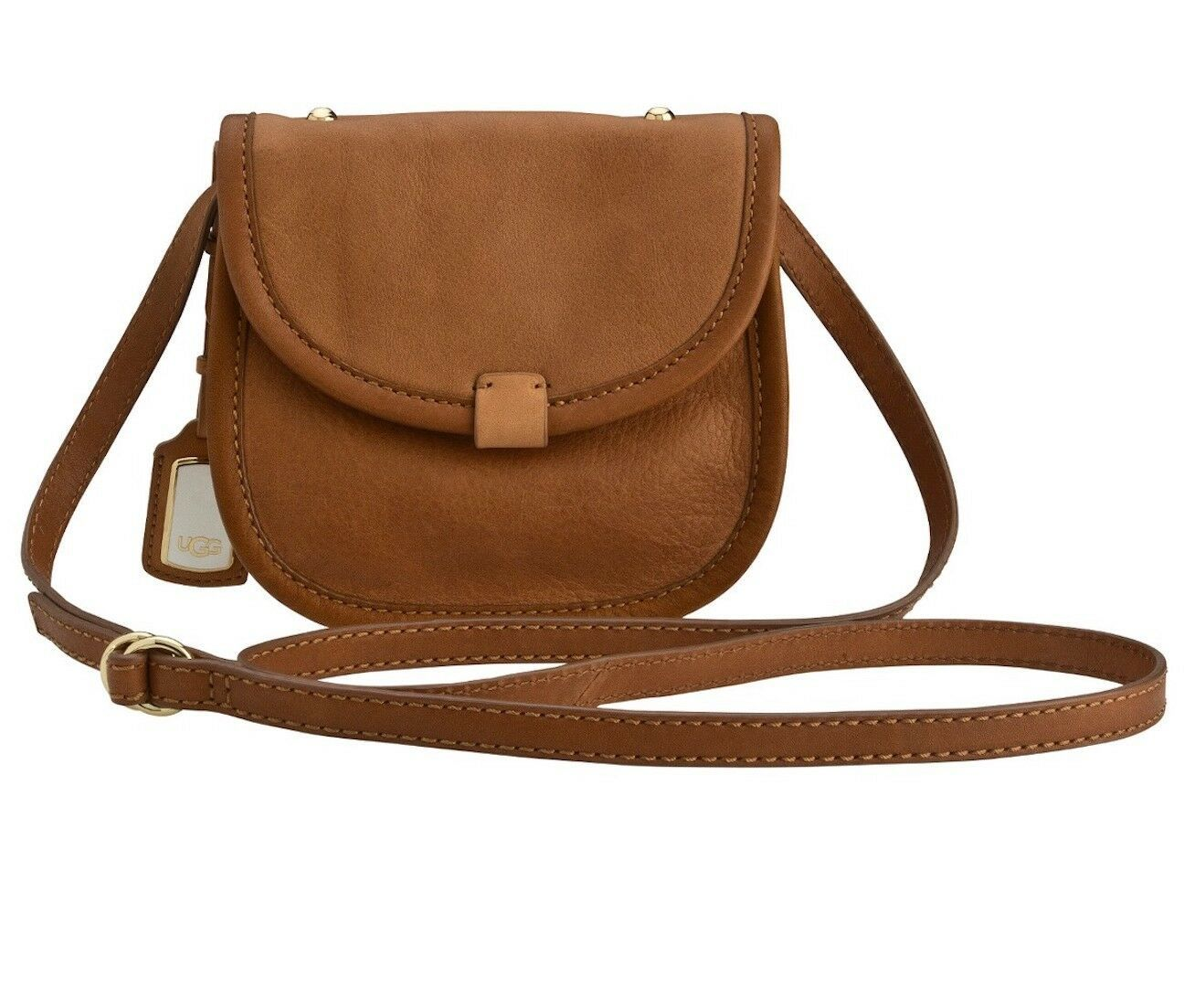 Primary image for UGG Bag Classic Mini Flap Leather Crossbody Caramel New $175