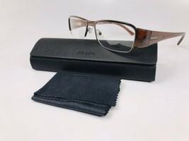 ✴ New Prada VPR 52I 1BI-1O1 Brown Eyeglasses 51mm with Prada Case - $94.00